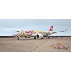 Swiss International Airbus A220-300 (Bombardier CS300) HB-JCA Fête des Vignerons  Herpa 1/400  562713 Passion Diecast