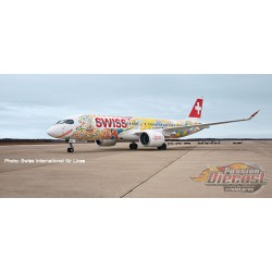 Swiss International Airbus A220-300 (Bombardier CS300) HB-JCA Fête des Vignerons  Herpa 1/200  559935  Passion Diecast