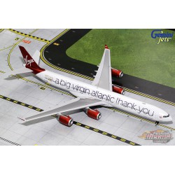 Virgin Atlantic Airbus A340-600 G-VNAP  Big Thank You  Gemini 200  G2VIR732 Passion Diecast