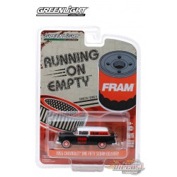 1955 Chevrolet One Fifty Sedan Delivery FRAM Oil Filters   -  Running on Empty  8, 1/64 Greenlight 41080 C  Passion Diecast