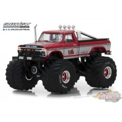 King Kong - 1975 Ford F-250 Monster Truck Kings of Crunch Series 1  GreenLight 1/64   49010 C  Passion Diecast