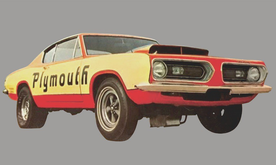 PLYMOUTH BARRACUDA 1968 - SUPER STOCK TEST MULE ACME 1/18