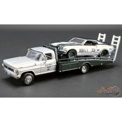 Allan Moffat - BRUT - FORD F-350 RAMP TRUCK WITH no33 1969 TRANS AM MUSTANG  - Acme Exclusive 51271 Passion Diecast