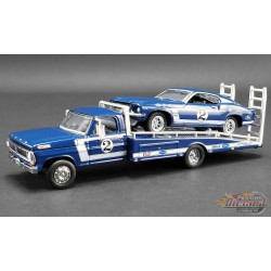 DAN GURNEY - FORD F-350 RAMP TRUCK WITH no2 1969 TRANS AM MUSTANG  - Acme Exclusive 51268  Passion Diecast