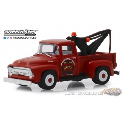 1956 Ford F-100 Tow Truck -- Busted Knuckle Garage Series 1   Greenlight 1-64 - 39010 B Passion Diecast