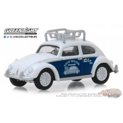 Classic Volkswagen Beetle with Roof Rack  - Busted Knuckle Garage Series 1   Greenlight 1-64 - 39010 F  Passion Diecast
