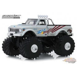 USA-1 - 1970 Chevrolet K-10 with 66-Inch Tires  Greenlight 1/43 88012 Passion Diecast