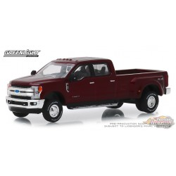 2019 Ford F-350 King Ranch Dually in Ruby Red   Dually Drivers Series 1   greenlight 1-64 - 46010 D  Passion Diecast