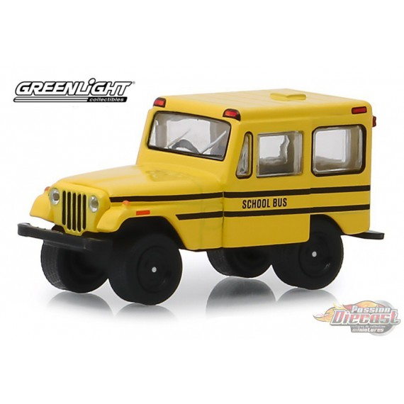 1974 Jeep DJ-5 School Bus (Hobby Exclusive) 1/64 Greenlight 30065 Passion Diecast