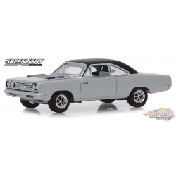 1968 Plymouth Road Runner Hemi en argent poli GL Muscle Series 22  1-64  greenlight 13250 B Passion Diecast