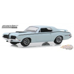 1970 Mercury Cougar Eliminator in Pastel Blue GL Muscle Series 22 1-64  greenlight 13250 C Passion Diecast