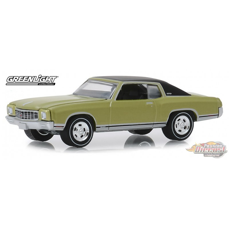 Ss Monte Carlo >> 1971 Chevrolet Monte Carlo Ss 454 In Cottonwood Green Gl Muscle Series 22 1 64 Greenlight 13250 D Passion Diecast