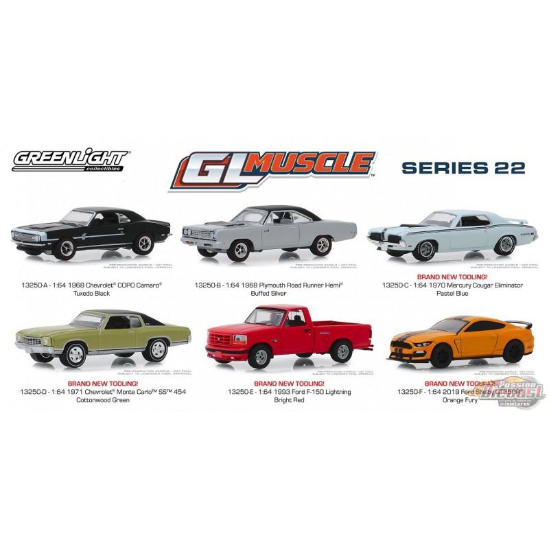 GL Muscle Cars Maßstab 1:64 NEU!° Greenlight 13250-F Ford Shelby GT350R orange
