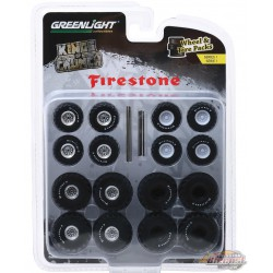 Kings of Crunch Firestone  Wheel & Tire Pack  (Hobby Exclusive)  1/64 Greenlingt 16010 A Passion Diecast