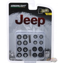 Jeep   Wheel & Tire Pack  (Hobby Exclusive)  1/64 Greenlingt 16010 C Passion Diecast