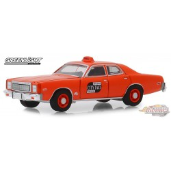1977 Plymouth Fury Binghamton, New York Taxi - Seven Original Miles on Odometer - 1/64 Greenlight 30057  Passion Diecast