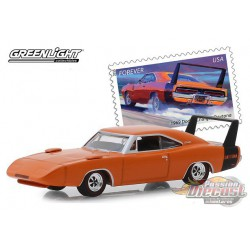 1969 Dodge Charger Daytona -  USPS Commemorative Stamps Series  -  (Hobby Exclusive) 1/64 Greenlight 30068   Passion Diecast