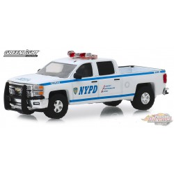 2015 Chevrolet Silverado - New York City Police Dept (NYPD) -  (Hobby Exclusive) 1/64 Greenlight 30093  Passion Diecast