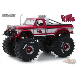 Ford F-250 Monster Truck 1975 with 66-Inch Tires Kings of Crunch - King Kong Greenlight 13539 1/18 Passion Diecast