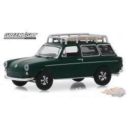 1969 Volkswagen Type 3 Squareback in Dark Green Estate Wagons Series 4 - 1/64  Greenlight 29970 B  Passion Diecast