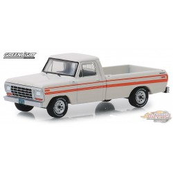 1979 Ford F-250 Explorer in White with Orange Stripes   All-Terrain Series 8   1-64 greenlight 35130 D  Passion Diecast