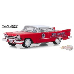1957 Plymouth Savoy - Red Crown Running on Empty Series 9  greenlight 1-64  - 41090 A   Passion Diecast