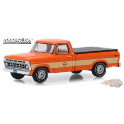 1976 Ford F-100 with Bed Cover - Gulf Oil   Running on Empty Series 9  greenlight 1-64  - 41090 E