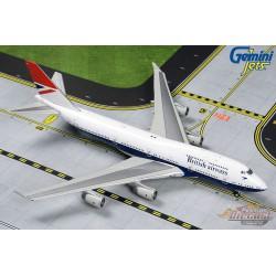 British Airways Negus Livery Boeing 747-400 G-CIVB 100 Years  Gemini 1/400 GJBAW1858 Passion Diecast