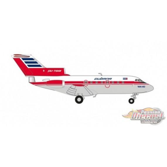 Cubana de Aviacion Yakovlev Yak-40 CU-TE1221  Herpa 1/200  559775  Passion Diecast