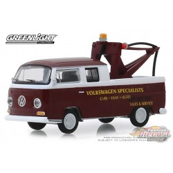 1968 Volkwagen Type 2 Crew Cab Pickup Blue Collar Collection Series 6 Greenlight 1/64, 35140 A Passion Diecast