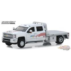 2018 Chevrolet Silverado 3500 USA-1  Dually Drivers Series 2,   1-64  greenlight 46020 B   Passion Diecast
