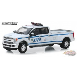 2019 Ford F-350 Dually -NYPD  Dually Drivers Series 2,   1-64  greenlight 46020 F  Passion Diecast