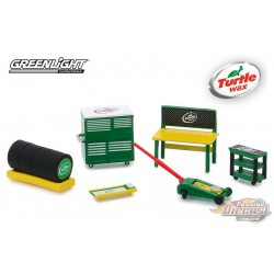 Turtle Wax Shop Tool Accessories  Series 1 Greenlight 1/64 16020 C  Passion Diecast