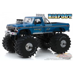 Bigfoot NO1 - Ford F-250 Monster Truck 1974 with 66-Inch Tires Kings of Crunch -1/18   Greenlight 13541 Passion Diecast