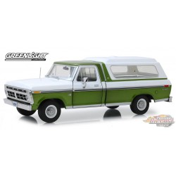 1975 Ford F-100   and Deluxe Bed Cover Greenlight 1/18  13545  Passion Diecast