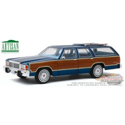 1979 Ford LTD Country Squire in Midnight Blue with Woodgrain Panel  Greenlight 1/18  19063  Passion Diecast