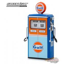 Gulf Oil  1954 Tokheim 350 Twin Gas Pump  Series 7 -  Greenlight  1/18, 14070 C  Passion Diecast