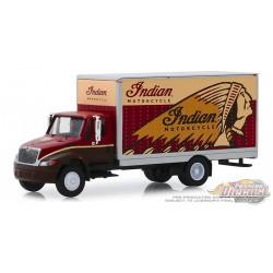 Indian Motorcycle - 2013 International Durastar Box Van - H.D. Trucks  Series 17  1/64 Greenlight 33170 A Passion Diecast