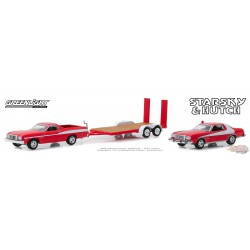 1976 Ford Ranchero with 1976 Ford Gran Torino on Flatbed Trailer - Starsky and Hutch TV Series  1/64 Greenlight 31080 A