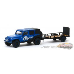 2012 Jeep Wrangler Unlimited MOPAR Off-Road Edition and Utility Trailer, Hitch & Tow 19, 1/64 Greenlight 32190 B