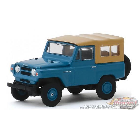 1968 Nissan Patrol in Mt. Fuji Blue  All-Terrain 9, 1-64 greenlight 35150 A Passion Diecast