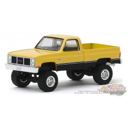 1987 GMC High Sierra en jaune et noir   All-Terrain 9, 1-64 greenlight 35150 C  Passion Diecast