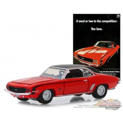 1969 Chevrolet Camaro SS - Vintage Ad Cars Series 1,  1-64 greenlight 39020 A  Passion Diecast