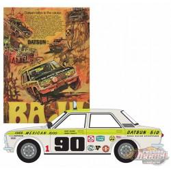 1969 Datsun 510 4-Door Sedan - no 90 1969 Mexican 1000 - Vintage Ad Cars Series 1,  1-64 greenlight 39020 B  Passion Diecast