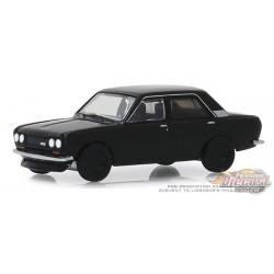 1970 Datsun 510 4-Door Sedan - Black Bandit Series 22, 1-64 greenlight 28010 A  Passion Diecast