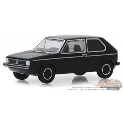 1976 Volkswagen Golf Mk1  - Black Bandit Series 22, 1-64 greenlight 28010 C Passion Diecast
