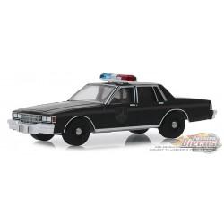 1980 Chevrolet Caprice Police  - Black Bandit Series 22, 1-64 greenlight 28010 D Passion Diecast