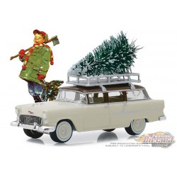 1955 Chevrolet 210 Townsman with Christmas Tree Accessory  - Norman Rockwell Series 2 - 1-64 greenlight 54020 B Passion Diecast