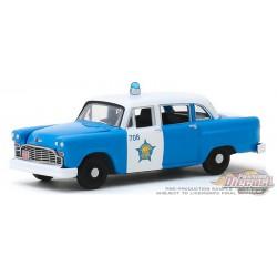 1961 Checker Marathon - Chicago Police Department - Hot Pursuit Series 34 - 1-64 greenlight 42910 B  Passion Diecast