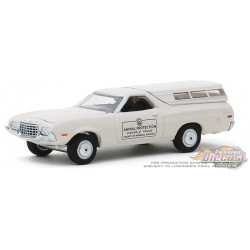1972 Ford Ranchero  Animal Protection  Henrico County, Virginia / PD - Hot Pursuit 34 - 1-64 greenlight 42910 C  Passion Diecast